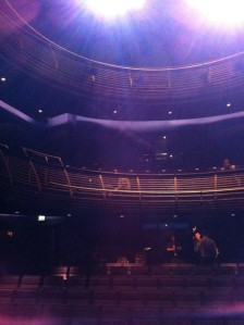 My view of the Richard Burton Theatre, RWCMD, Cardiff