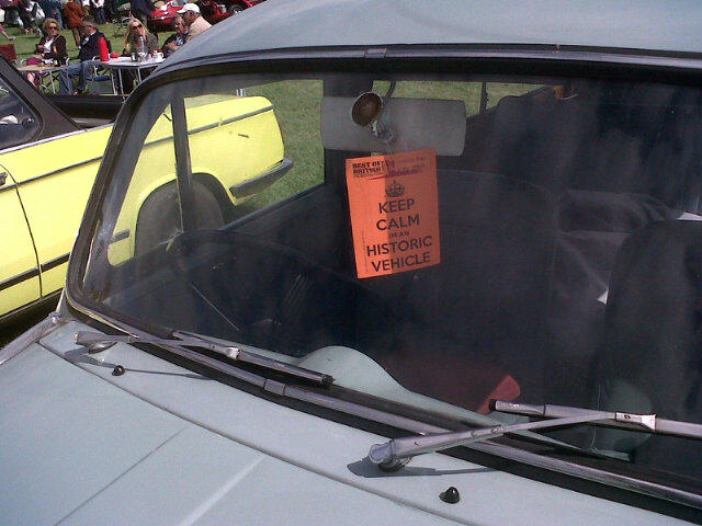 "27th Aug  @gregjlewis: For your collection @adrianmasters84 ""Keep calm, I'm an historic vehicle"""