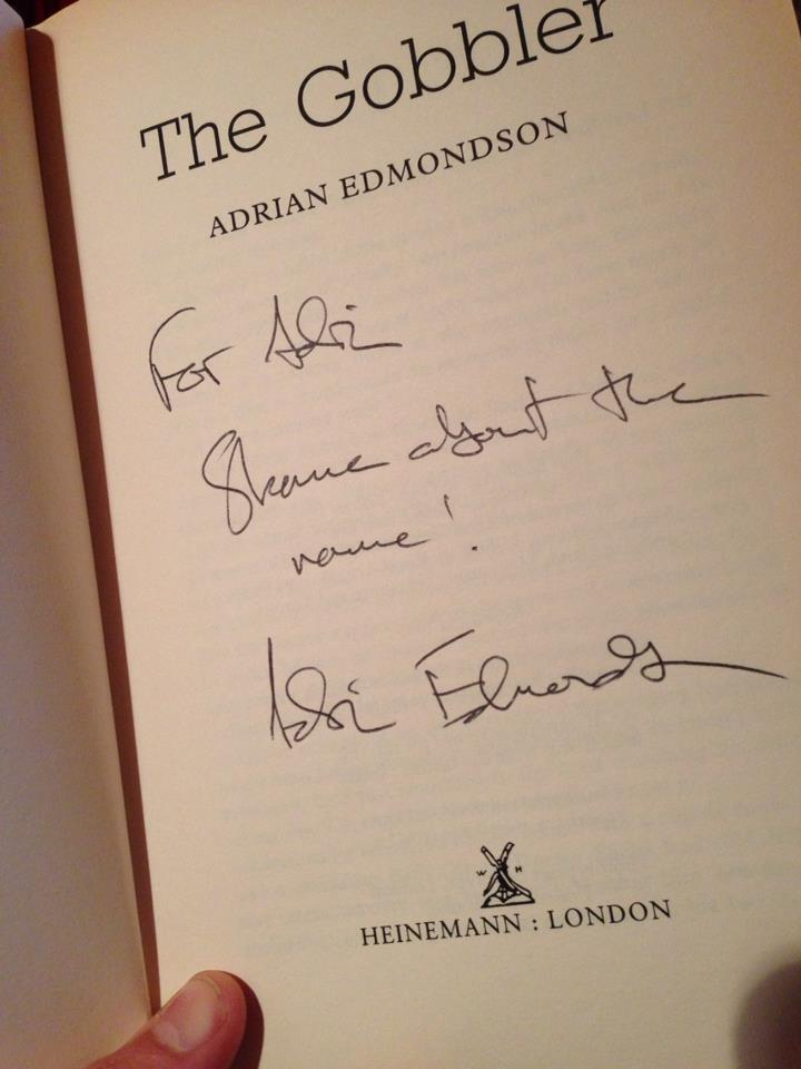My signed copy of 'The Gobbler' by Adrian Edmonson
