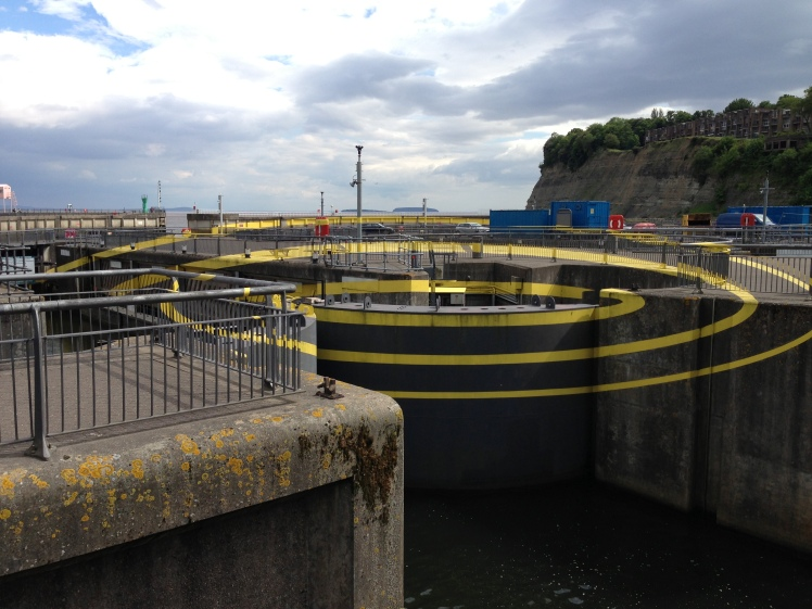 Cardiff Bay barrage concentric circles