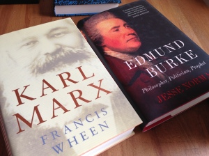 Francis Wheen, Karl Marx and Jesse Norman, Edmund Burke