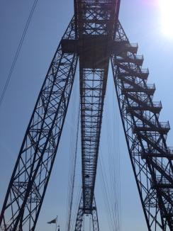 Newport Transporter Bridge from below