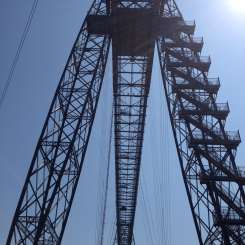 Newport Transporter Bridge from below