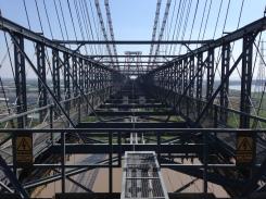 View of the top of Newport Transporter Bridge