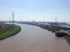 Usk estuary as seen from Transporter Bridge