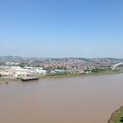 Newport as seen from the top of the Transporter Bridge