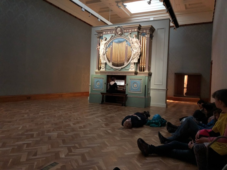 Looking and listening to the Sky in a Room, National Museum Wales, Cardiff