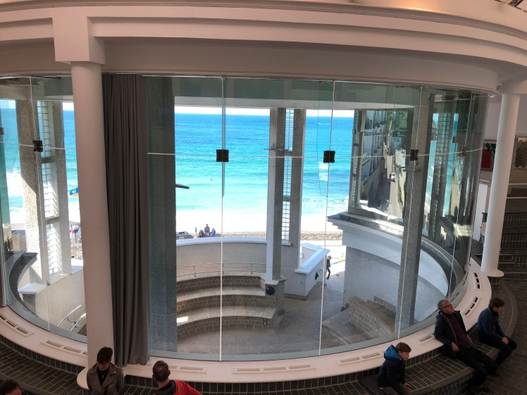 Tate St Ives, looking out from inside. My photo.