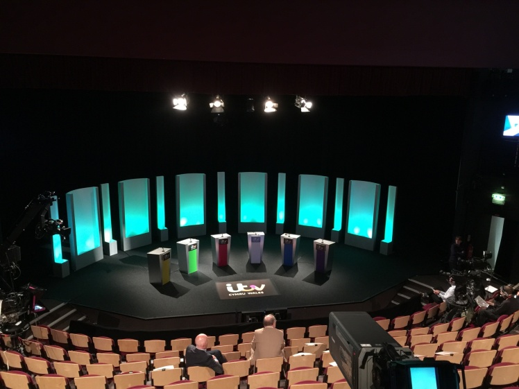 An empty debate stage
