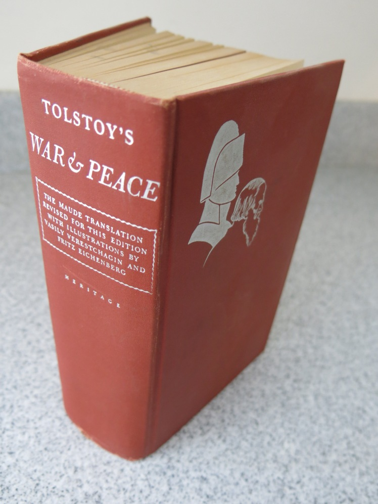 'It goes on and on like Texas' - Joseph Conrad This photo by Lianna Davies used under Creative Commons licence Liahttps://commons.wikimedia.org/wiki/File:War_and_Peace_book.JPG
